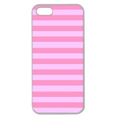 Fabric Baby Pink Shades Pale Apple Seamless Iphone 5 Case (clear) by AnjaniArt