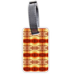 Fabric Design Pattern Color Luggage Tags (one Side)  by AnjaniArt