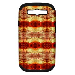 Fabric Design Pattern Color Samsung Galaxy S Iii Hardshell Case (pc+silicone) by AnjaniArt