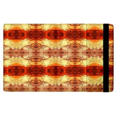 Fabric Design Pattern Color Apple Ipad 2 Flip Case by AnjaniArt