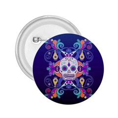 Día De Los Muertos Skull Ornaments Multicolored 2 25  Buttons by EDDArt