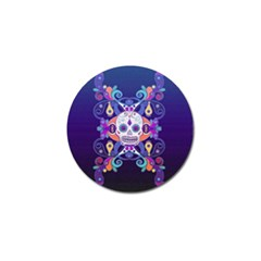Día De Los Muertos Skull Ornaments Multicolored Golf Ball Marker (10 Pack) by EDDArt