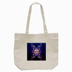 Día De Los Muertos Skull Ornaments Multicolored Tote Bag (cream) by EDDArt