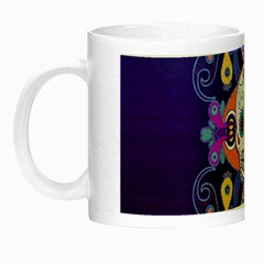 Día De Los Muertos Skull Ornaments Multicolored Night Luminous Mugs by EDDArt