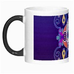 Día De Los Muertos Skull Ornaments Multicolored Morph Mugs Left