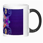 Día De Los Muertos Skull Ornaments Multicolored Morph Mugs Right