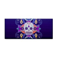 Día De Los Muertos Skull Ornaments Multicolored Hand Towel by EDDArt