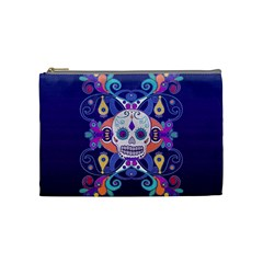 Día De Los Muertos Skull Ornaments Multicolored Cosmetic Bag (medium)  by EDDArt