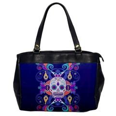 Día De Los Muertos Skull Ornaments Multicolored Office Handbags by EDDArt