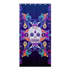 Día De Los Muertos Skull Ornaments Multicolored Shower Curtain 36  X 72  (stall)  by EDDArt