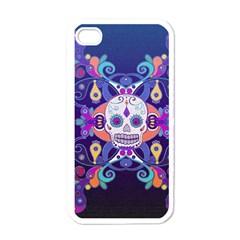 Día De Los Muertos Skull Ornaments Multicolored Apple Iphone 4 Case (white) by EDDArt