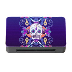 Día De Los Muertos Skull Ornaments Multicolored Memory Card Reader With Cf by EDDArt