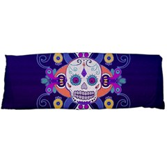 Día De Los Muertos Skull Ornaments Multicolored Body Pillow Case Dakimakura (two Sides) by EDDArt