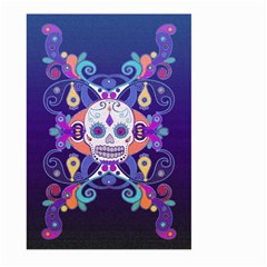 Día De Los Muertos Skull Ornaments Multicolored Large Garden Flag (two Sides) by EDDArt