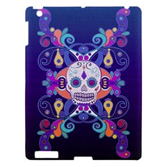 Día De Los Muertos Skull Ornaments Multicolored Apple Ipad 3/4 Hardshell Case by EDDArt