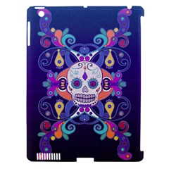 Día De Los Muertos Skull Ornaments Multicolored Apple Ipad 3/4 Hardshell Case (compatible With Smart Cover) by EDDArt