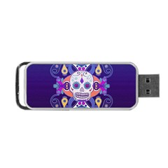 Día De Los Muertos Skull Ornaments Multicolored Portable Usb Flash (two Sides) by EDDArt