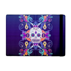Día De Los Muertos Skull Ornaments Multicolored Apple Ipad Mini Flip Case by EDDArt