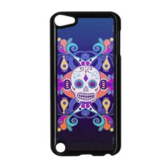 Día De Los Muertos Skull Ornaments Multicolored Apple Ipod Touch 5 Case (black) by EDDArt
