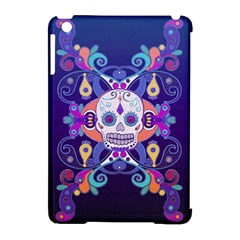 Día De Los Muertos Skull Ornaments Multicolored Apple Ipad Mini Hardshell Case (compatible With Smart Cover) by EDDArt