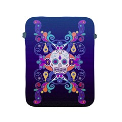 Día De Los Muertos Skull Ornaments Multicolored Apple Ipad 2/3/4 Protective Soft Cases by EDDArt
