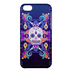 Día De Los Muertos Skull Ornaments Multicolored Apple Iphone 5c Hardshell Case by EDDArt