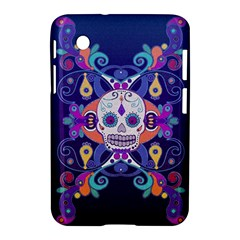 Día De Los Muertos Skull Ornaments Multicolored Samsung Galaxy Tab 2 (7 ) P3100 Hardshell Case  by EDDArt