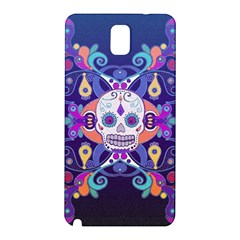 Día De Los Muertos Skull Ornaments Multicolored Samsung Galaxy Note 3 N9005 Hardshell Back Case by EDDArt