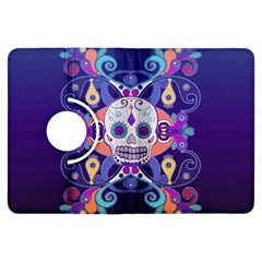 Día De Los Muertos Skull Ornaments Multicolored Kindle Fire Hdx Flip 360 Case by EDDArt