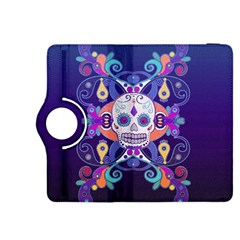 Día De Los Muertos Skull Ornaments Multicolored Kindle Fire Hdx 8 9  Flip 360 Case by EDDArt