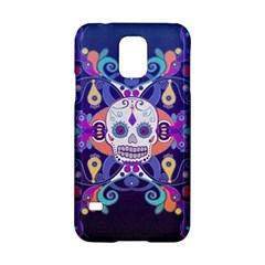 Día De Los Muertos Skull Ornaments Multicolored Samsung Galaxy S5 Hardshell Case  by EDDArt