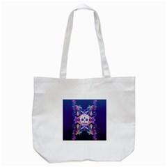 Día De Los Muertos Skull Ornaments Multicolored Tote Bag (white) by EDDArt