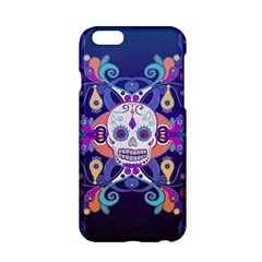 Día De Los Muertos Skull Ornaments Multicolored Apple Iphone 6/6s Hardshell Case by EDDArt