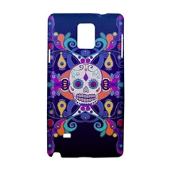 Día De Los Muertos Skull Ornaments Multicolored Samsung Galaxy Note 4 Hardshell Case by EDDArt