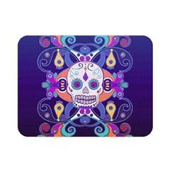 Día De Los Muertos Skull Ornaments Multicolored Double Sided Flano Blanket (mini)  by EDDArt