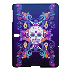 Día De Los Muertos Skull Ornaments Multicolored Samsung Galaxy Tab S (10 5 ) Hardshell Case  by EDDArt