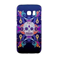 Día De Los Muertos Skull Ornaments Multicolored Galaxy S6 Edge by EDDArt