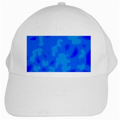Simple Blue White Cap by Valentinaart