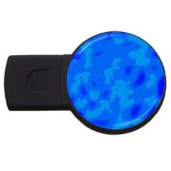 Simple Blue Usb Flash Drive Round (4 Gb)  by Valentinaart