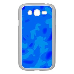 Simple Blue Samsung Galaxy Grand Duos I9082 Case (white) by Valentinaart
