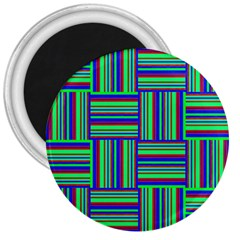 Fabric Pattern Design Cloth Stripe 3  Magnets by AnjaniArt