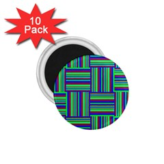 Fabric Pattern Design Cloth Stripe 1 75  Magnets (10 Pack)  by AnjaniArt