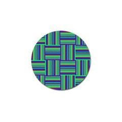 Fabric Pattern Design Cloth Stripe Golf Ball Marker by AnjaniArt