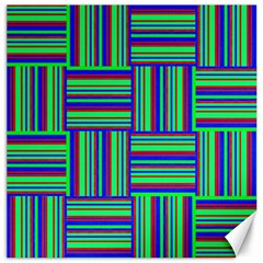 Fabric Pattern Design Cloth Stripe Canvas 12  X 12   by AnjaniArt