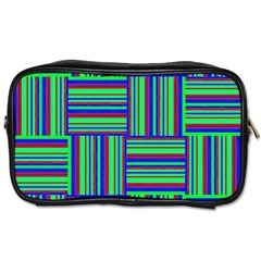 Fabric Pattern Design Cloth Stripe Toiletries Bags by AnjaniArt