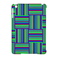Fabric Pattern Design Cloth Stripe Apple Ipad Mini Hardshell Case (compatible With Smart Cover) by AnjaniArt