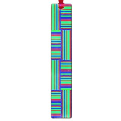 Fabric Pattern Design Cloth Stripe Large Book Marks by AnjaniArt