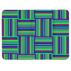 Fabric Pattern Design Cloth Stripe Samsung Galaxy Tab 7  P1000 Flip Case by AnjaniArt