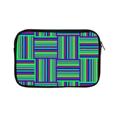 Fabric Pattern Design Cloth Stripe Apple Ipad Mini Zipper Cases by AnjaniArt