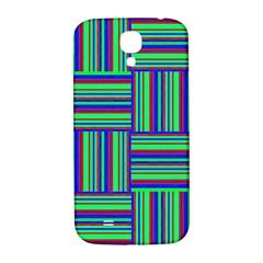 Fabric Pattern Design Cloth Stripe Samsung Galaxy S4 I9500/i9505  Hardshell Back Case by AnjaniArt